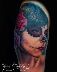 Day of the Dead Girl 2 Roses