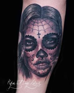 Sugar skull Day of the Dead Girl