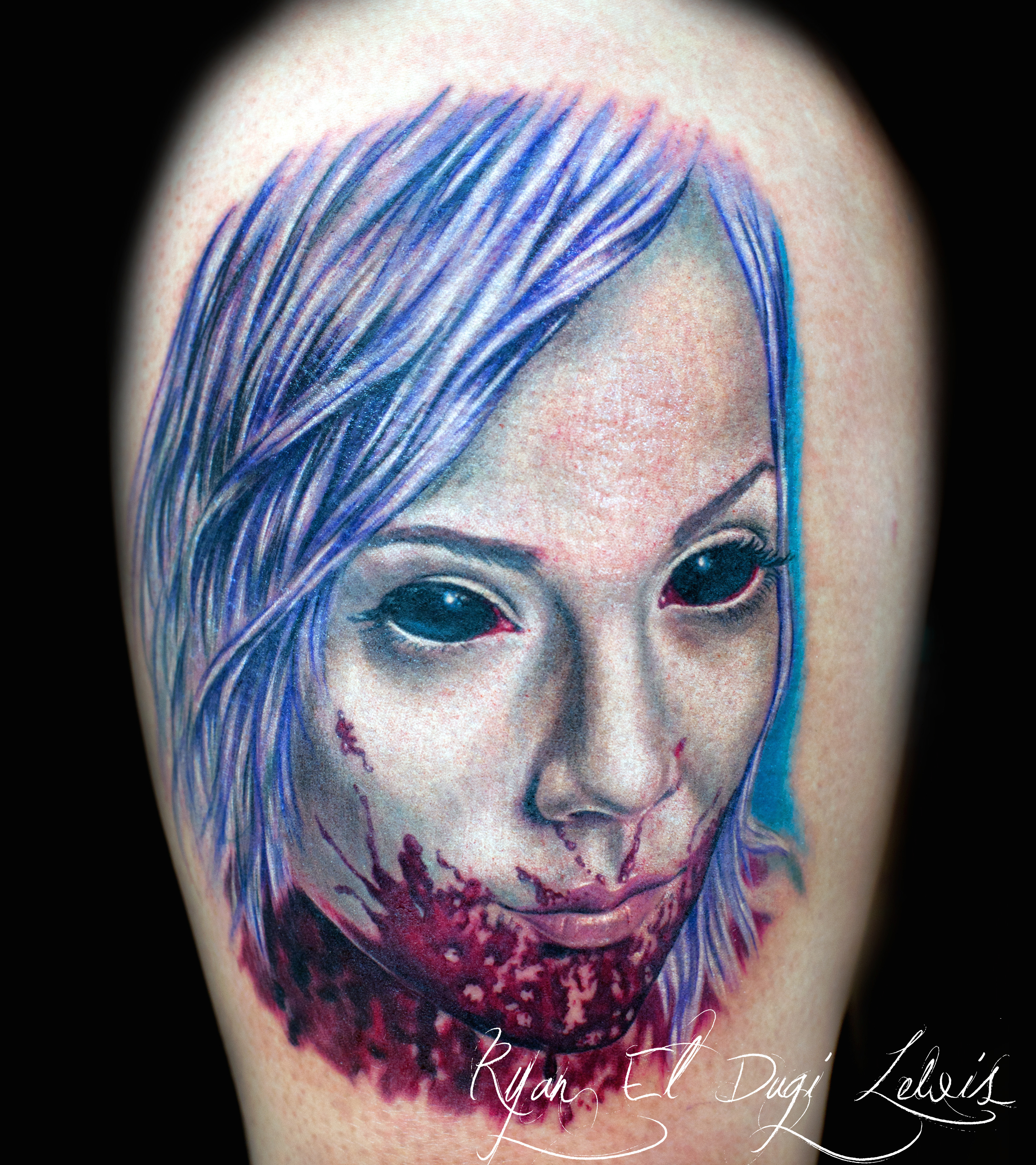 Zombie Girl Portrait White Buffalo Gallery
